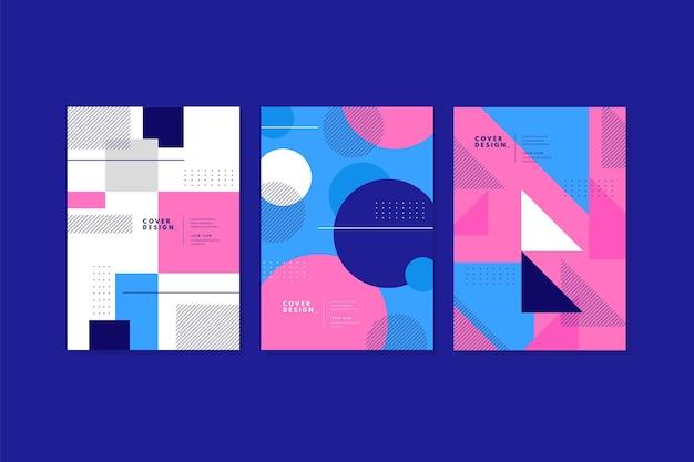 Collection de couvertures commerciales géométriques abstraites