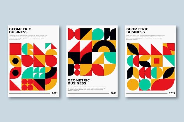 Collection de couvertures commerciales géométriques aux couleurs vives