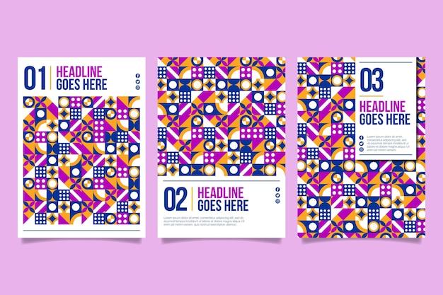 Collection de couvertures commerciales géométriques multicolores
