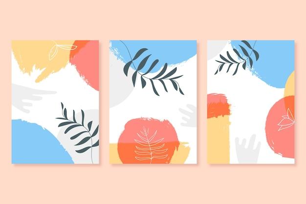 Collection de couvertures de composition minimale abstraite dessinée à la main