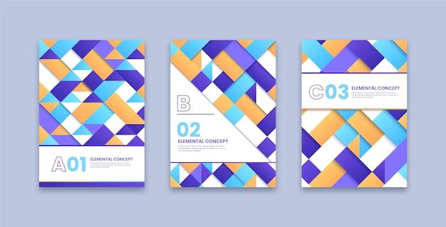 Collection de couvertures de concept élémentaire