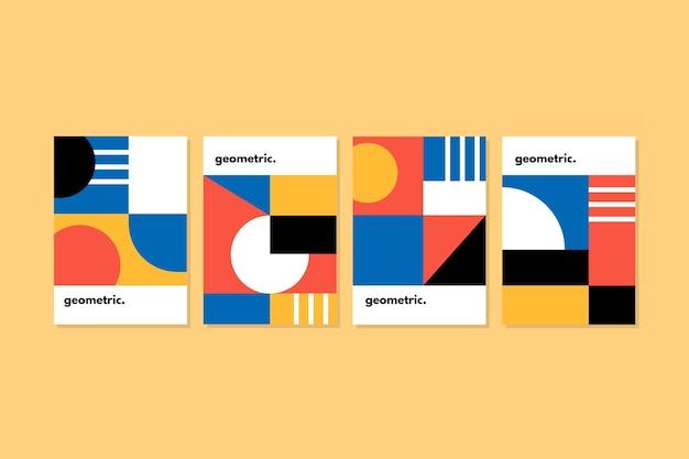 Collection de couvertures de conception graphique dans le style bauhaus