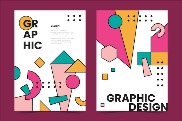 Collection de couvertures de conception graphique