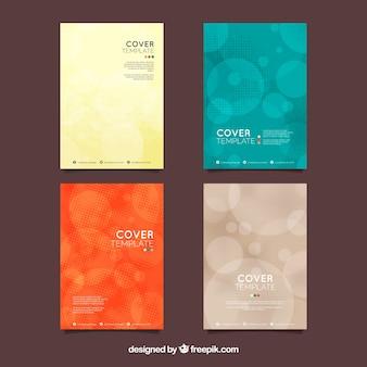 Collection de couvertures avec demi-teintes