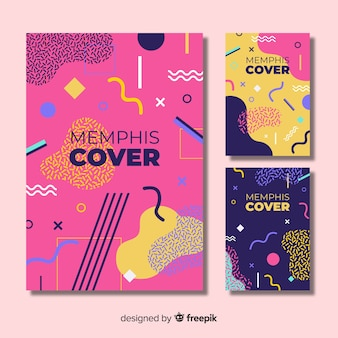 Collection de couvertures design memphis