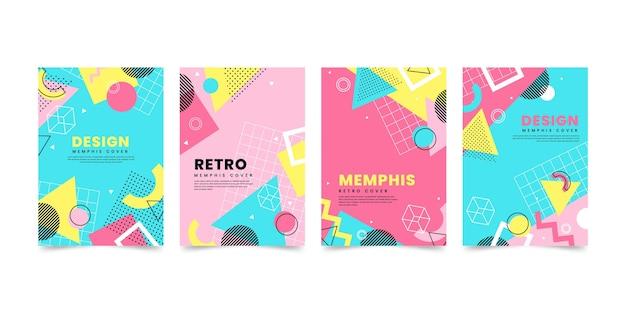 Collection de couvertures design memphis