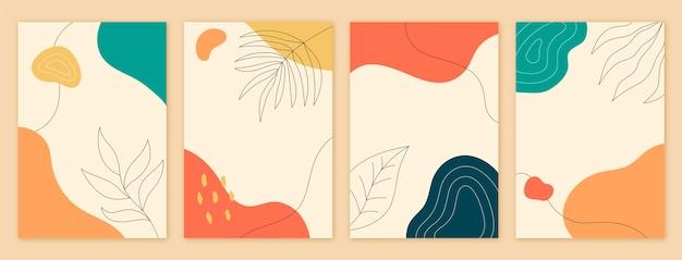 Collection de couvertures dessinées à la main minimales dessinées à la main