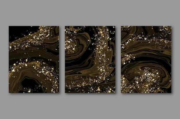 Collection de couvertures d'encre à l'alcool aquarelle