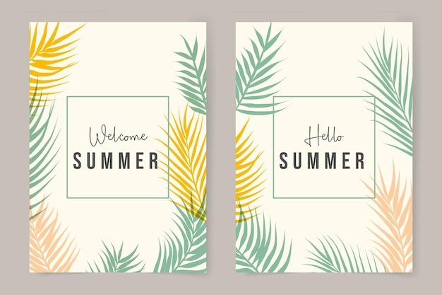 Collection de couvertures d'été minimaliste