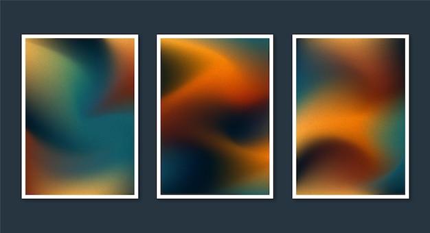 Collection de couvertures floues abstraites dégradées