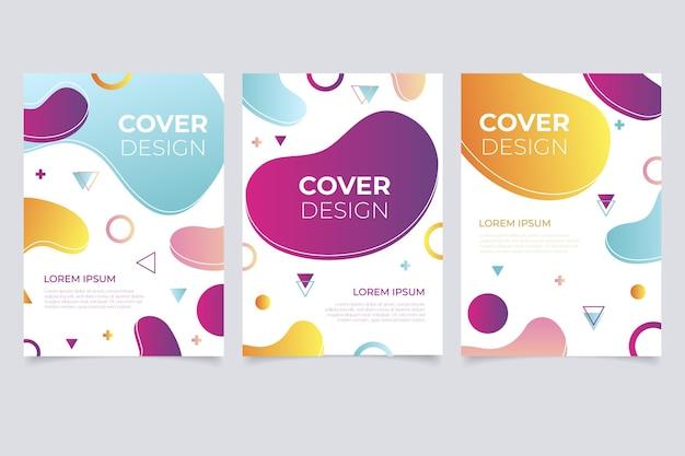 Collection de couvertures de formes abstraites dégradées