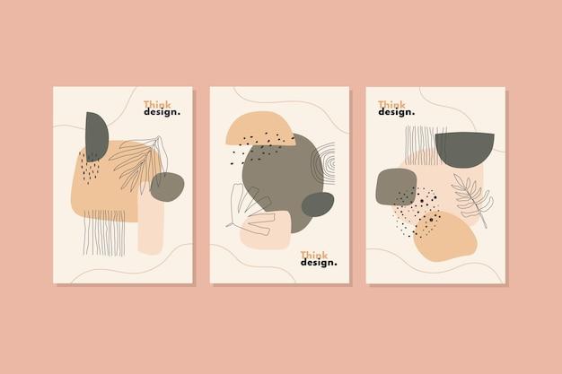 Collection de couvertures de formes abstraites