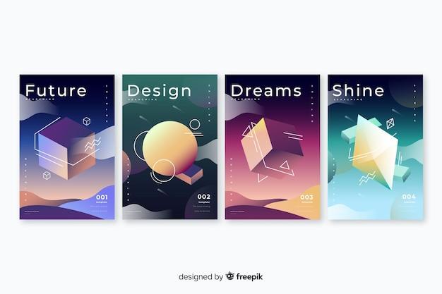 Collection de couvertures de formes géométriques anti-gravité
