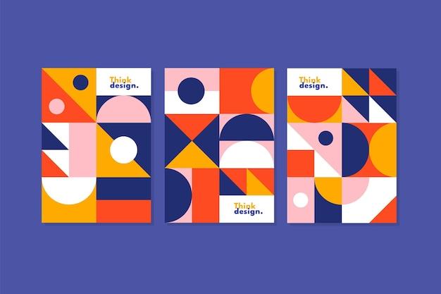 Collection de couvertures de formes géométriques