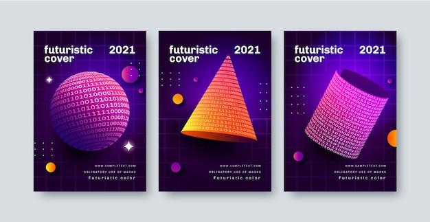 Collection de couvertures futuristes dégradées