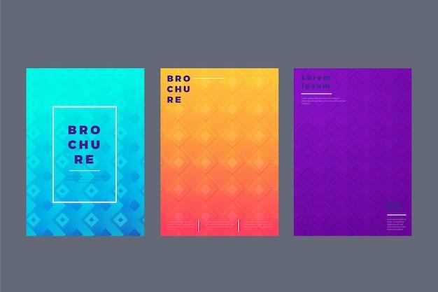 Collection de couvertures géométriques abstraites