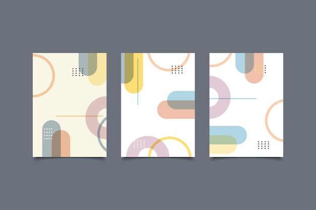 Collection de couvertures géométriques rétro abstraites