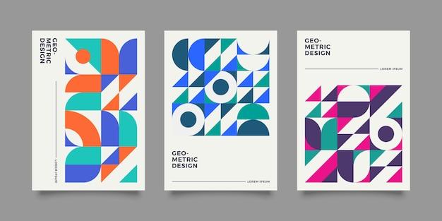 Collection de couvertures géométriques rétro