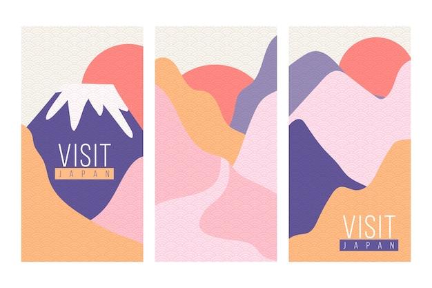 Collection de couvertures japonaises design minimaliste