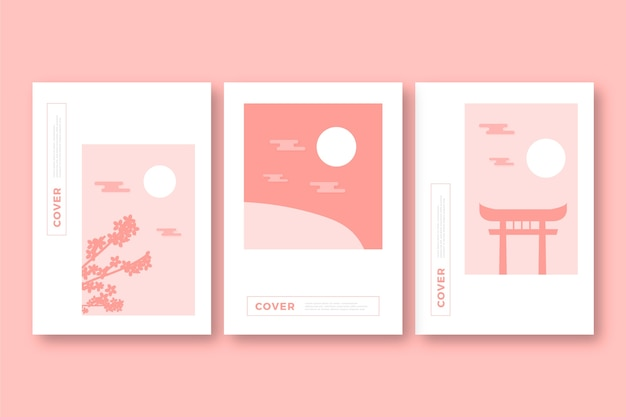 Collection de couvertures japonaises minimalistes