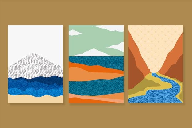 Collection de couvertures japonaises minimalistes