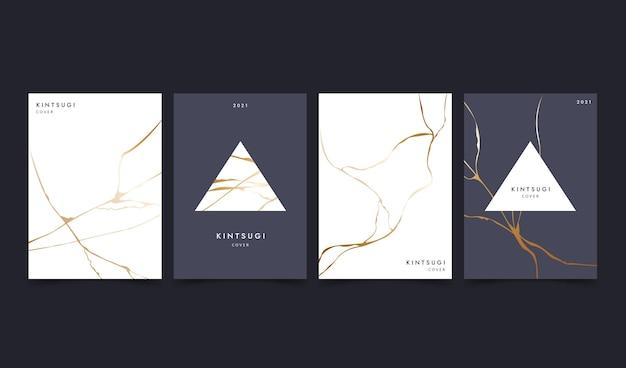 Collection de couvertures kintsugi réalistes