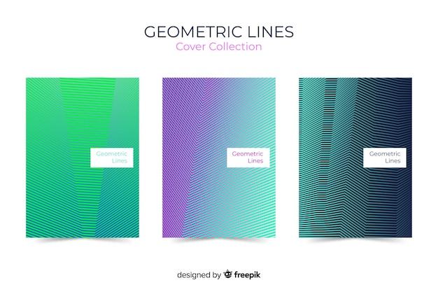 Collection de couvertures de lignes géométriques