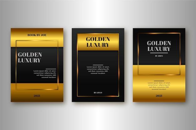 Collection de couvertures de luxe dorées dégradées