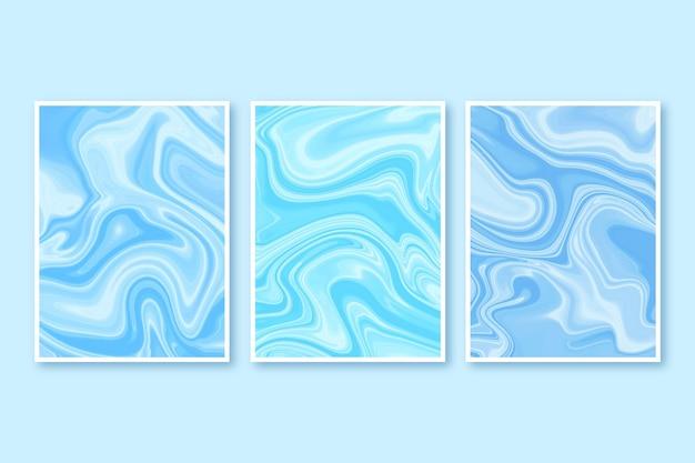 Collection de couvertures en marbre liquide peintes à la main