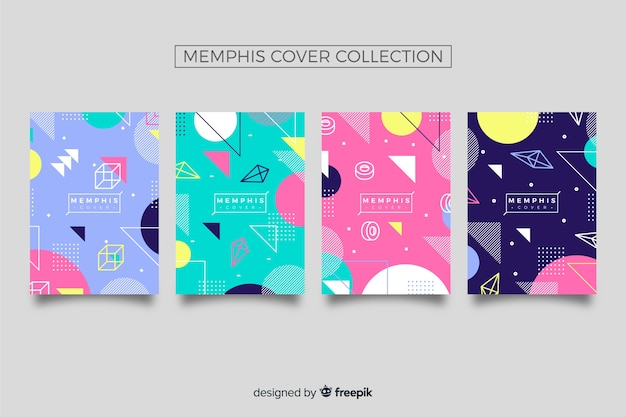 Collection de couvertures de memphis