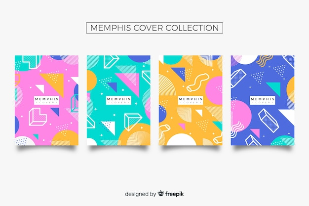 Collection de couvertures de memphis