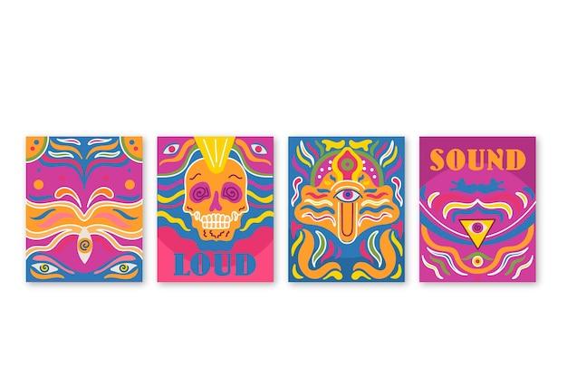 Collection de couvertures de musique psychédélique