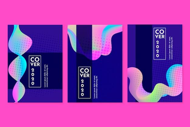 Collection de couvertures d'ondes sonores abstraites