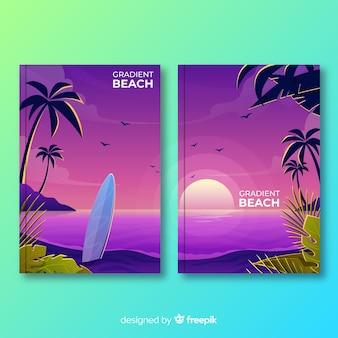 Collection de couvertures de plage dégradées