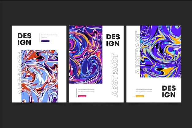 Collection de couvertures de style abstrait