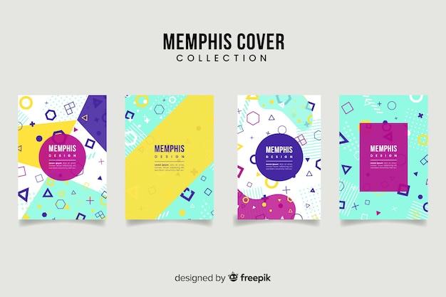 Collection de couvertures de style memphis