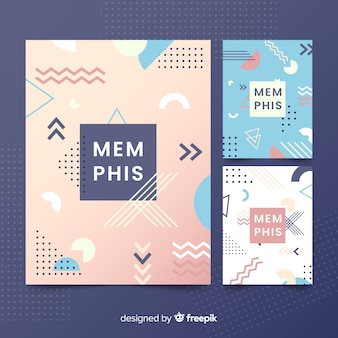 Collection de couvertures style memphis