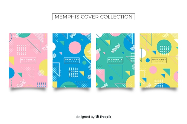 Collection de couvertures style memphis