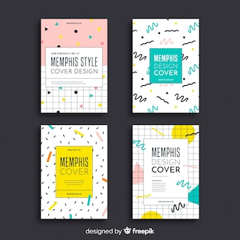 Collection de couvertures de style memphis