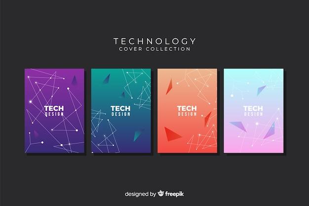 Collection de couvertures de style technologique dégradé