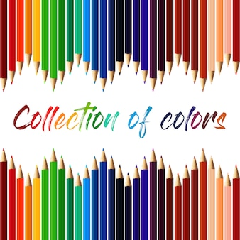 Collection de crayon de couleur