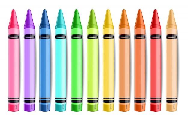 Collection de crayons pastel