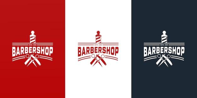 Collection de création de logo barbershop