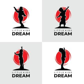 Collection de création de logo de rêves d'enfant