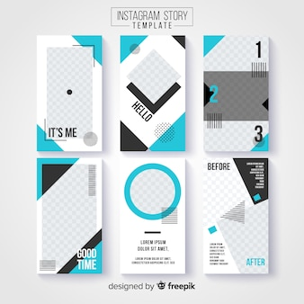 Collection créative d'histoires instagram