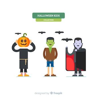 Collection créative de personnages pour enfants d'halloween