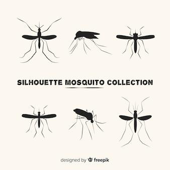 Collection créative de silhouettes de moustiques