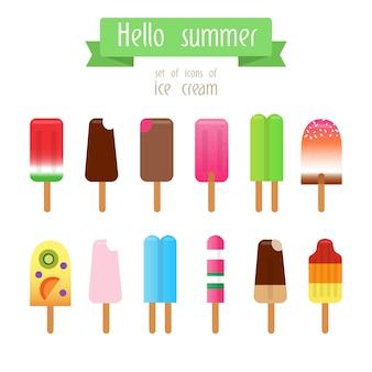 Collection de crèmes de glace