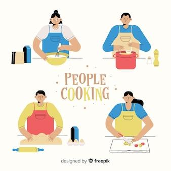 Collection de cuisine de personnes