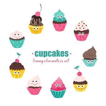 Collection de cupcakes